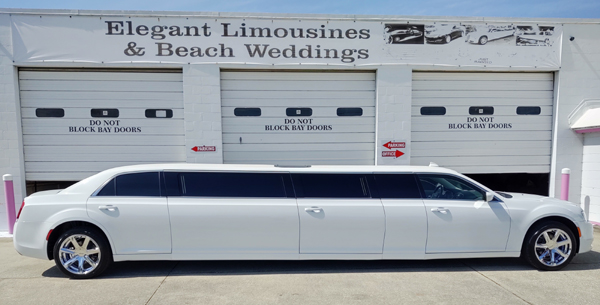 Elegant Limousines White Chrysler 300 Limo Daytona Beach
