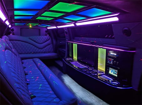 Inside Lincoln Limo In Daytona